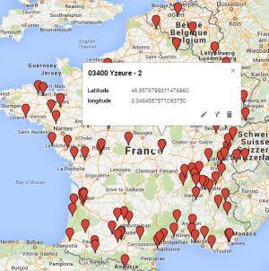 Carte des poseurs de plancher chauffant Caleosol