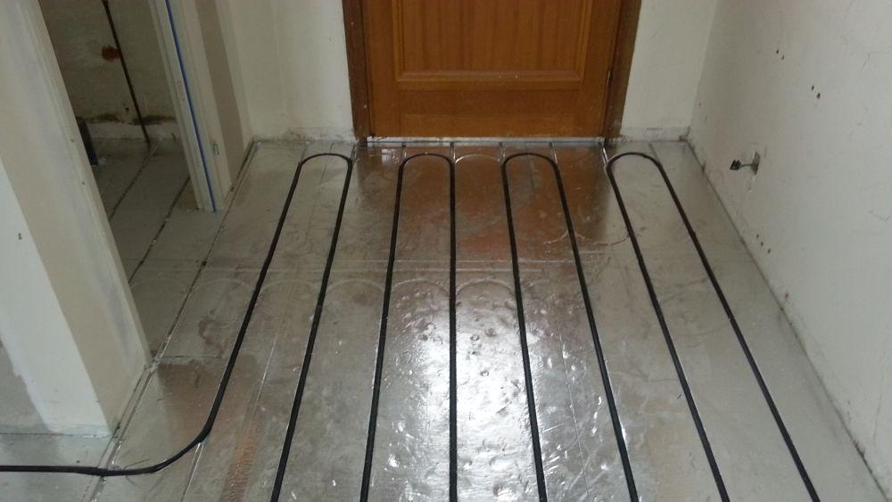 autre exemple de pose plancher chauffant caleosol en rénovation  à Lyon et Dardilly