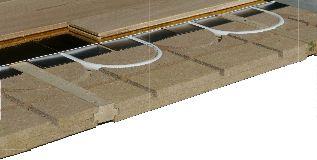 Installation plancher chauffant eau sur plancher bois: le Caleosol Eco+ avec lambourdes