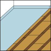 Pare vapeur pour plancher chauffant avec lambourdes