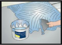 Collage carrelage plancher chauffant direct sur Caleosol Classique