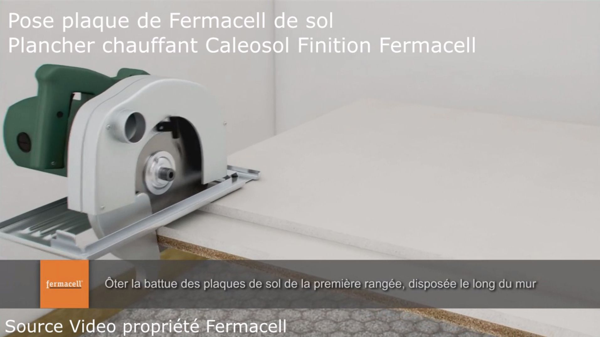 Pose plaque Fermacell plancher chauffant