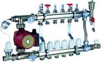 Autre exemple d'un groupe de mélange pour remplacer un radiateur pour une surface de 70m²