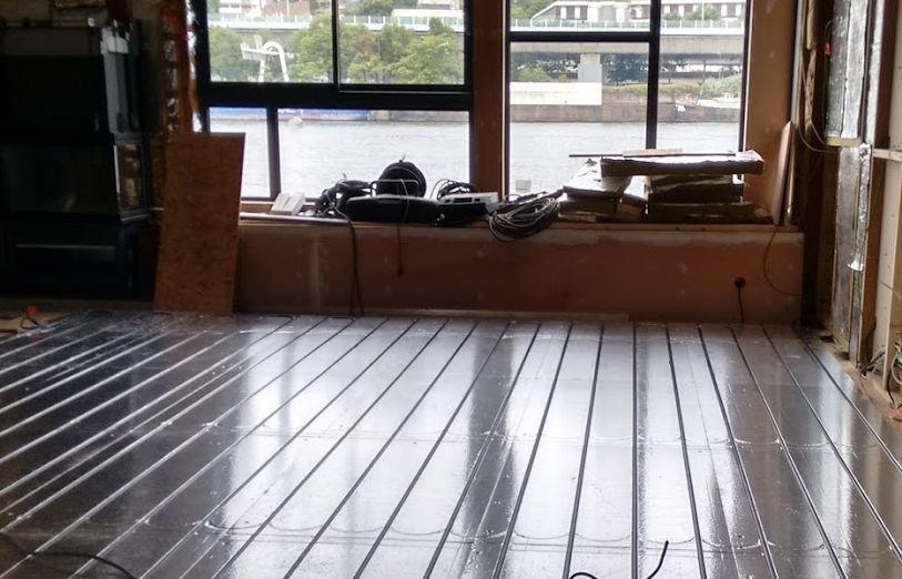 Pose plancher chauffant Caleosol par REFASOL en Lorraine 54