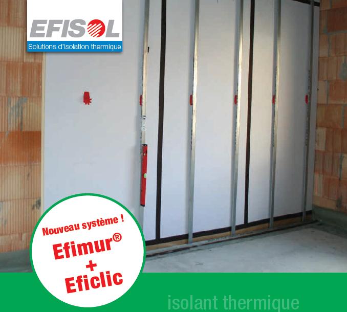 Pose mur chauffant à isolation renforcée : exemple TMS - EFISOL