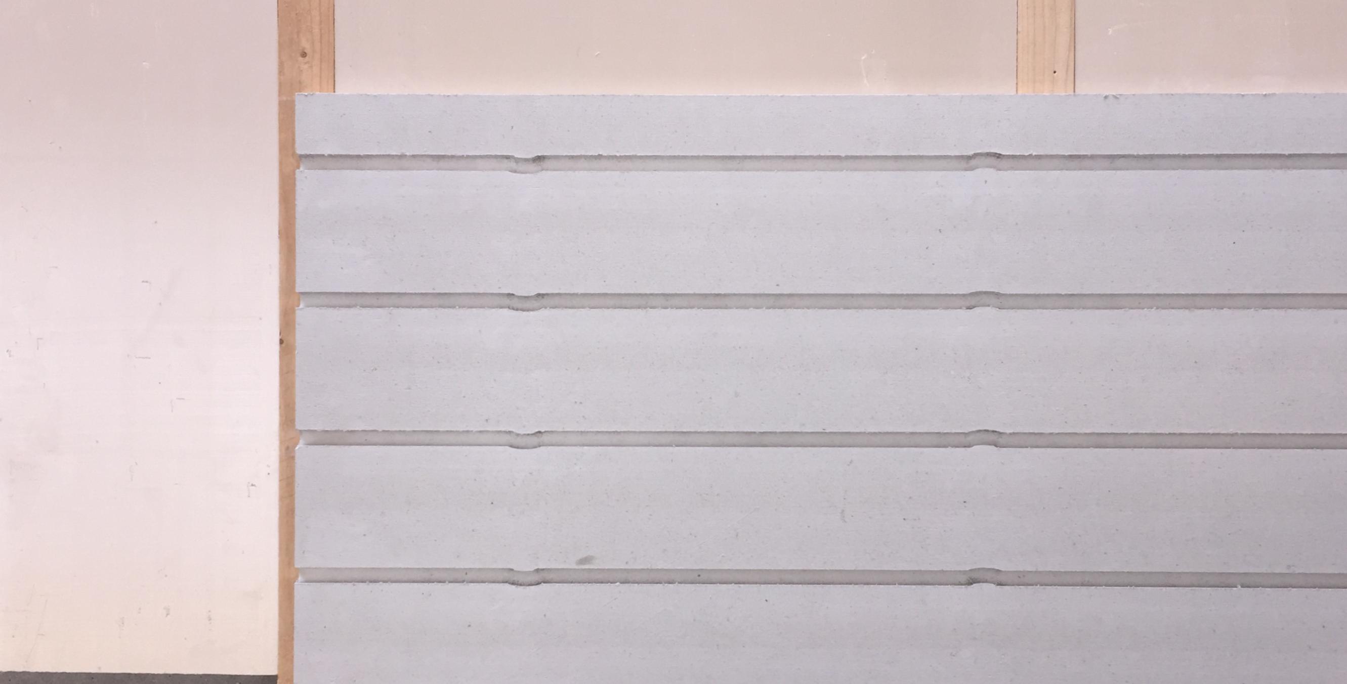 Pose mur chauffant avec tasseaux verticaux avec un pas de 40 cm