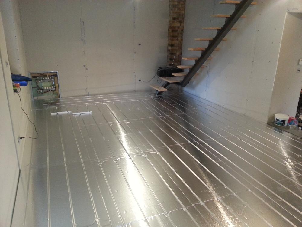 Pose terminée du plancher chauffant à 73190 Apremont Chambery