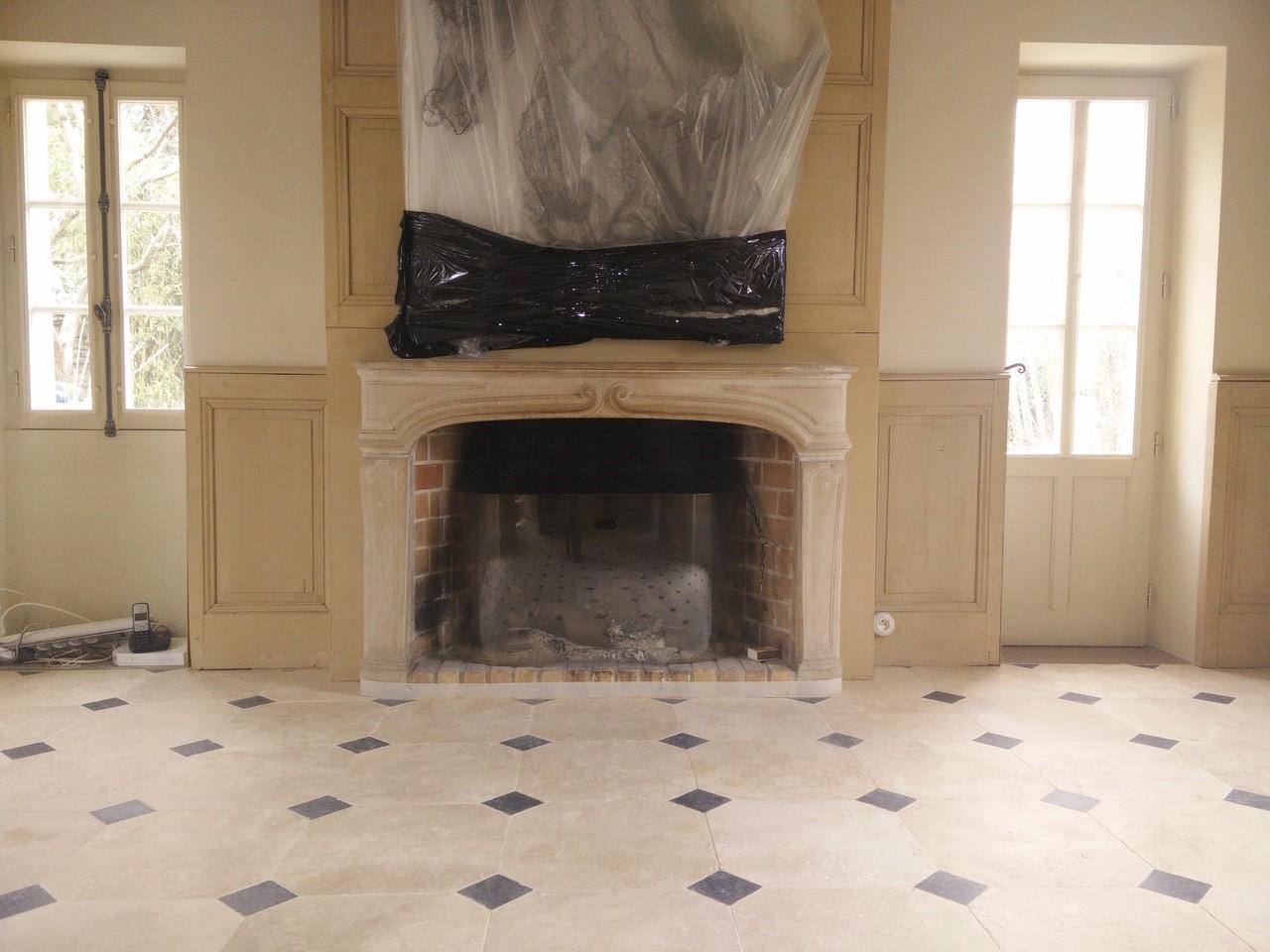 Rénovation Manoir Plancher chauffant Montfort l'Amaury