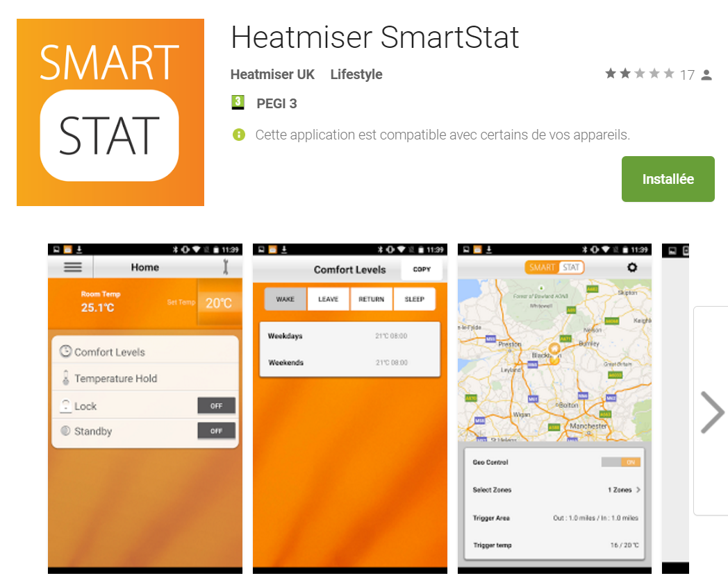 App Thermostat Heatmiser Smartstat sur google play