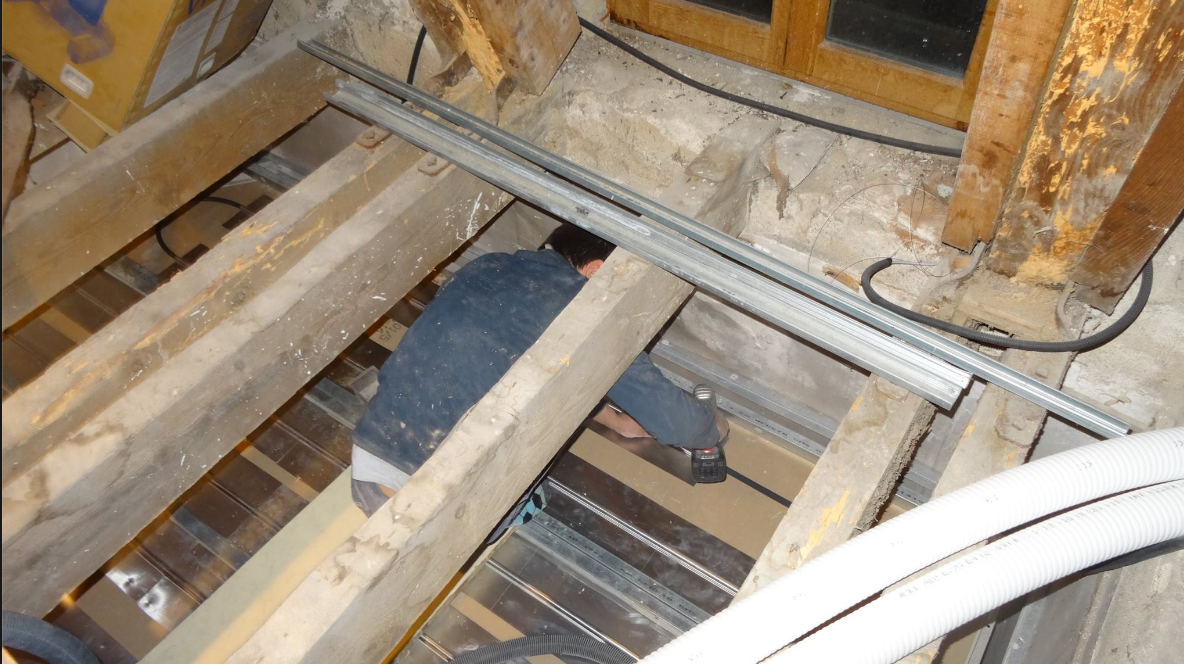 Plafond chauffant rénovation chateau avec Caleosol Budget