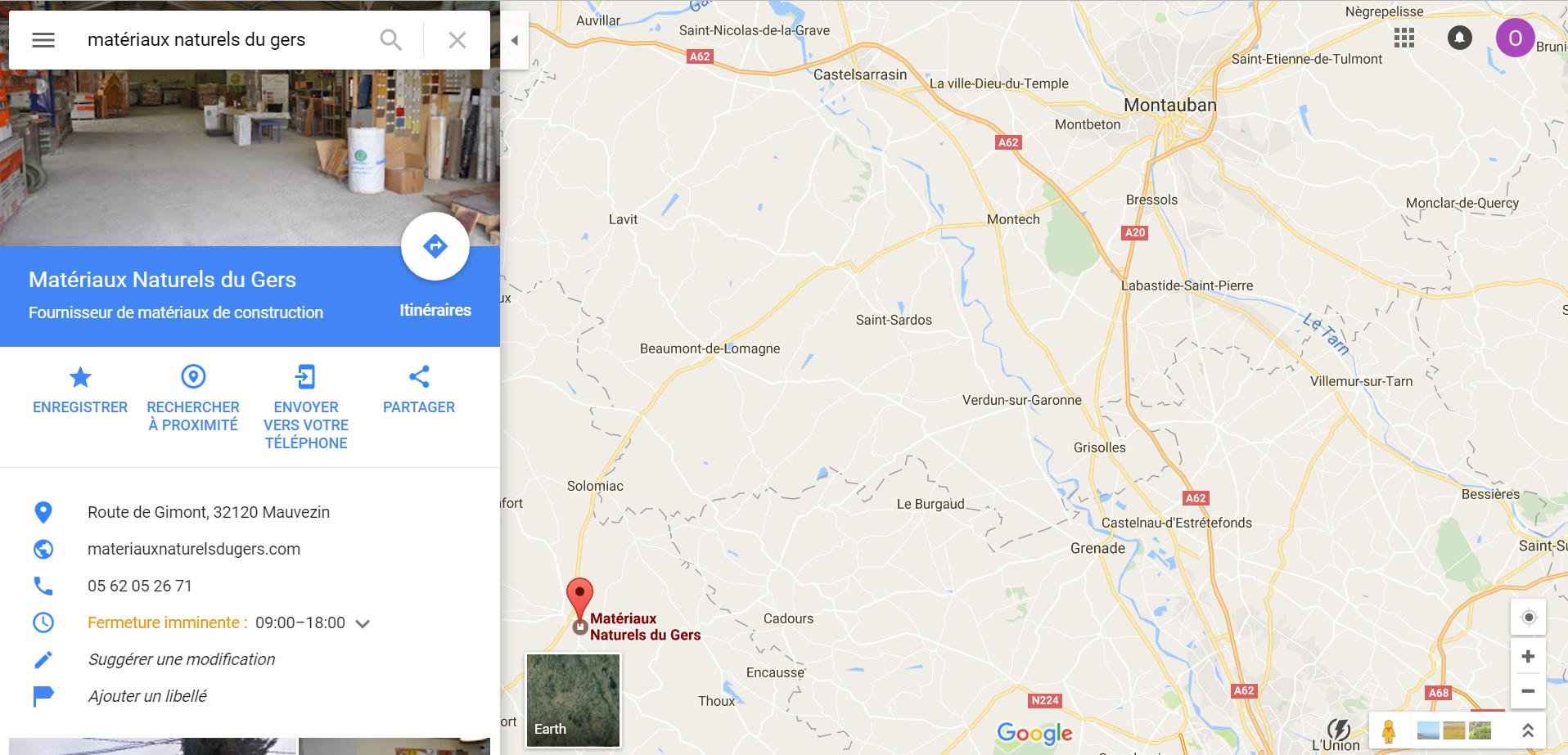 Position magasin plancher chauffant Montauban MNDG