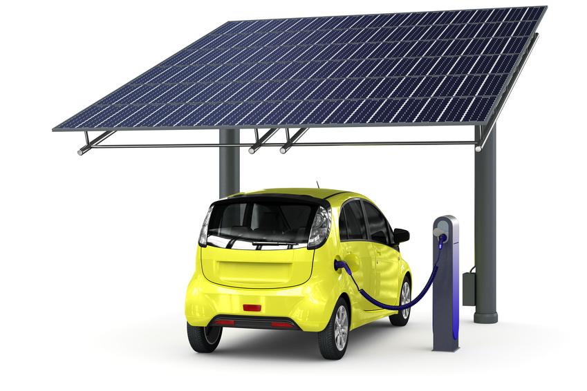 E-carport solaire photovoltaïque : un design très compact