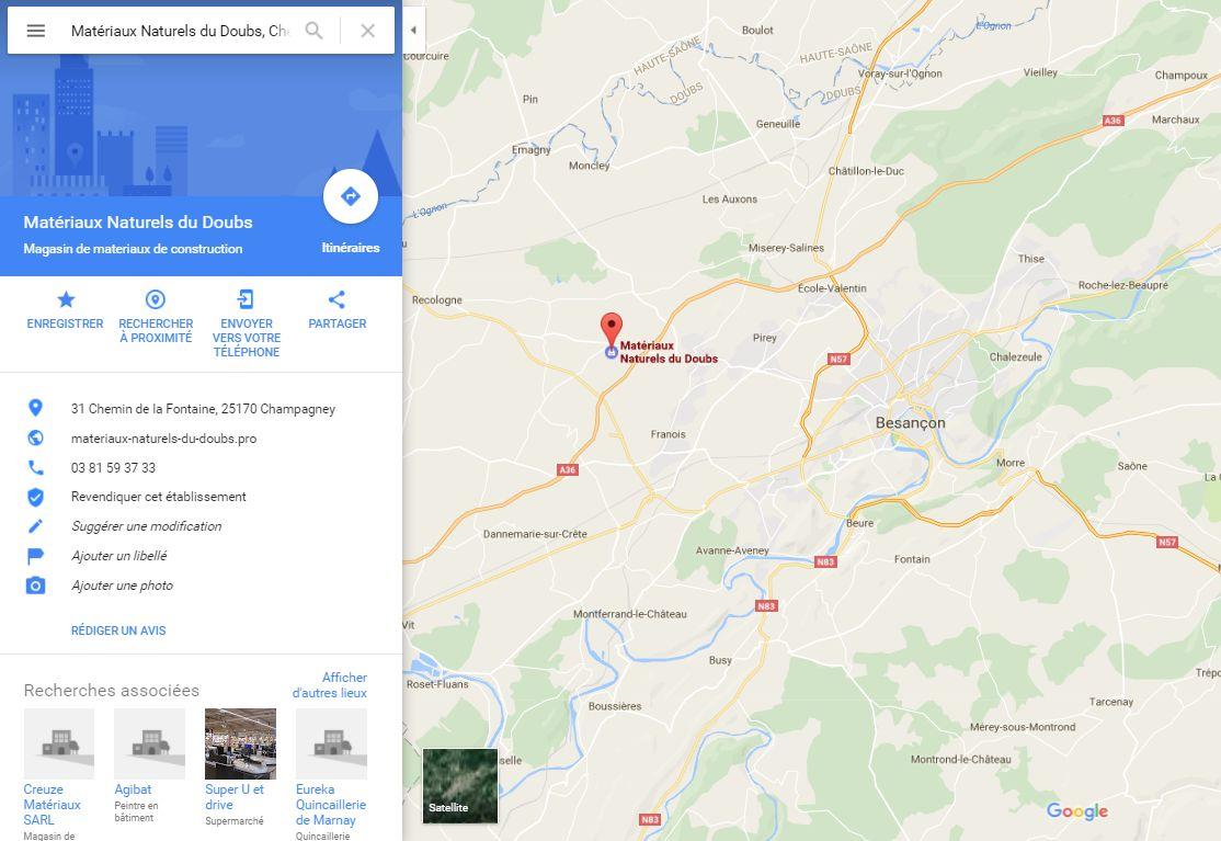 Magasin plancher chauffant chez Matériaux Naturels du Doubs à Besançon