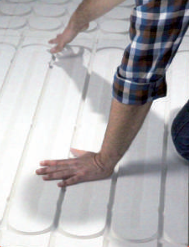 Plancher chauffant Caleosol Gypse 18 mm