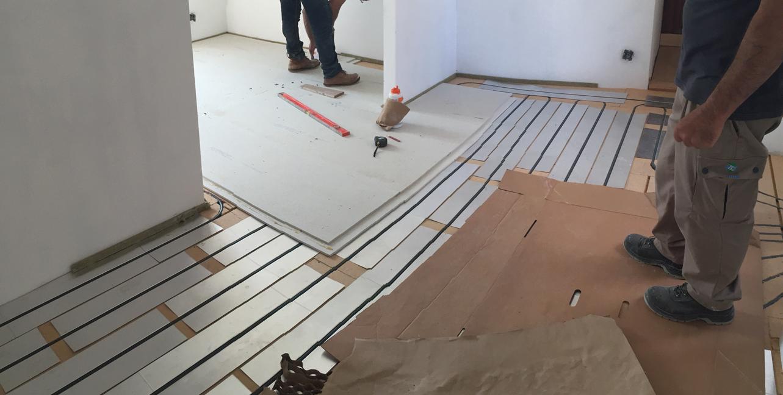 chape plancher chauffant fermacell 20 à 30 mm à partir de 20 kg:m²
