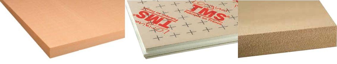 Large choix d'isolants pour plancher chauffant sec (fibre de bois, XPS, TMS)
