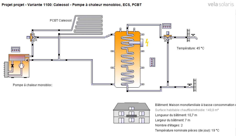 Ballon tampon pour PAC et ECS - schéma 1