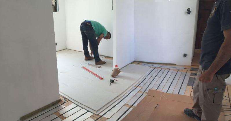 Plancher chauffant pour travaux de rénovation