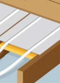 Plancher chauffant rénovation entre solives