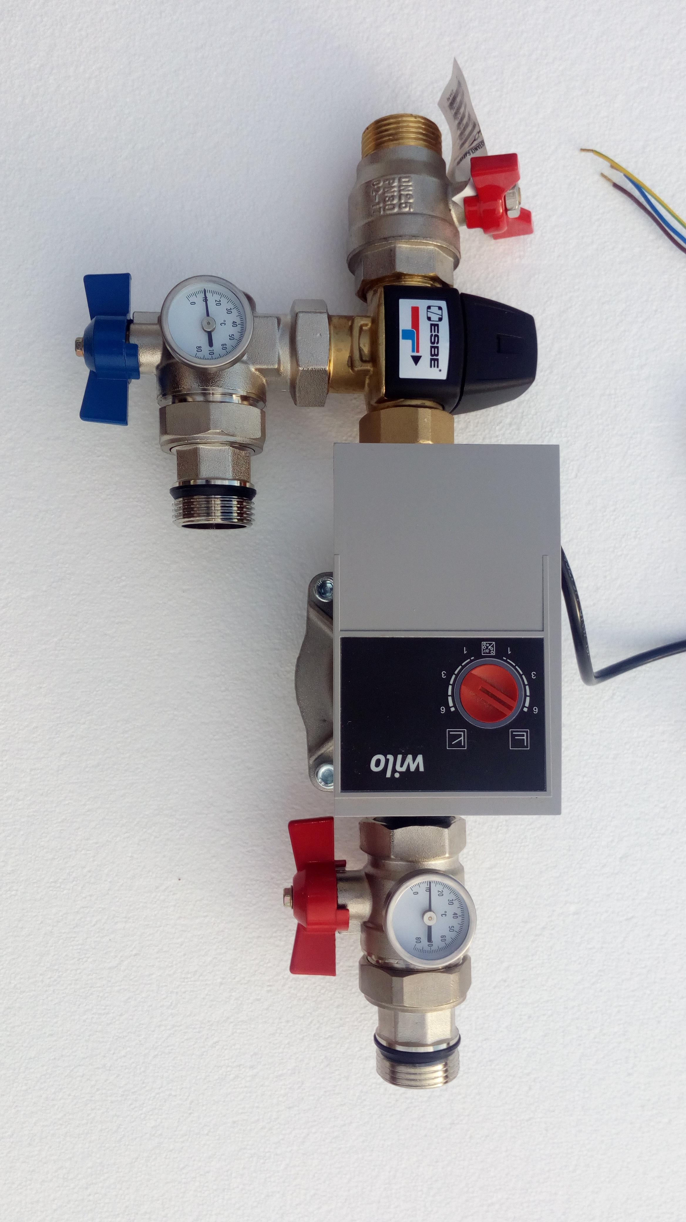 Régulation pour puits canadien hydraulique