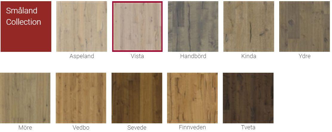 Finitions pour Parquet Kahrs Supreme Smaland Collection pour plancher chauffant