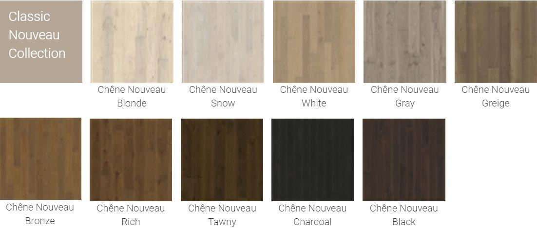 Finitions pour Parquet Kahrs Original Classic Nouveau Collection pour plancher chauffant