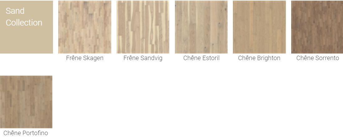 Finitions pour Parquet Kahrs Original Sand Collection pour plancher chauffant