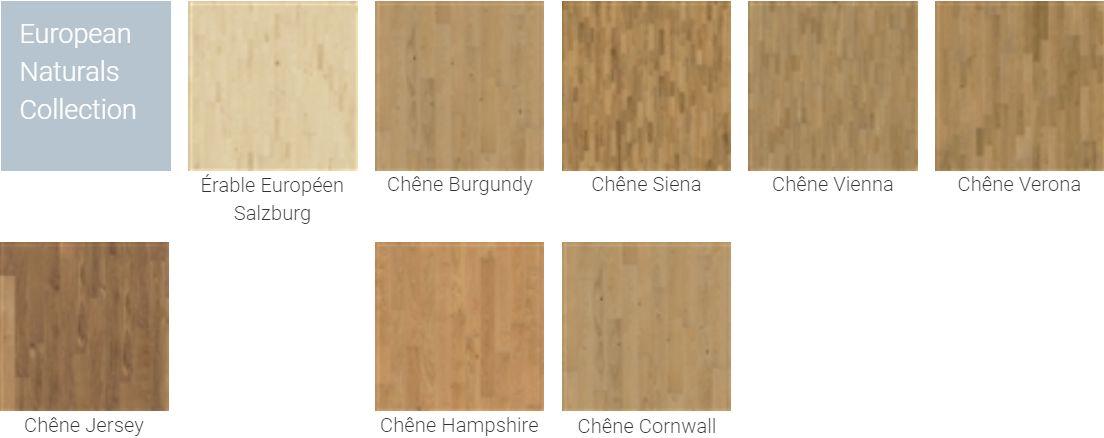 Finitions pour Parquet Kahrs Original European Naturals Collection pour plancher chauffant