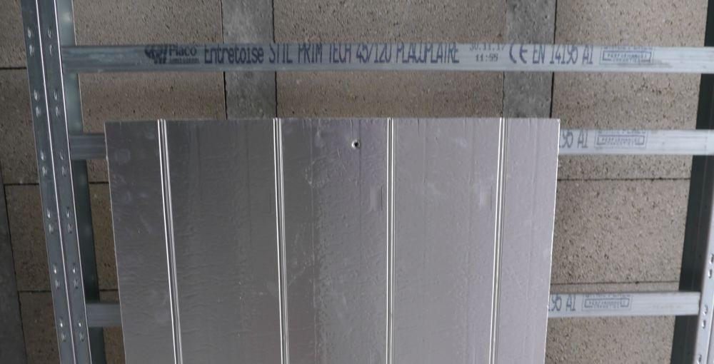 Raillage pour plafond chauffant monté