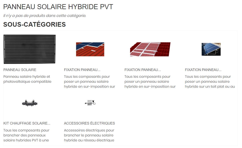 Boutique accessoires pour montage panneau solaire hybride