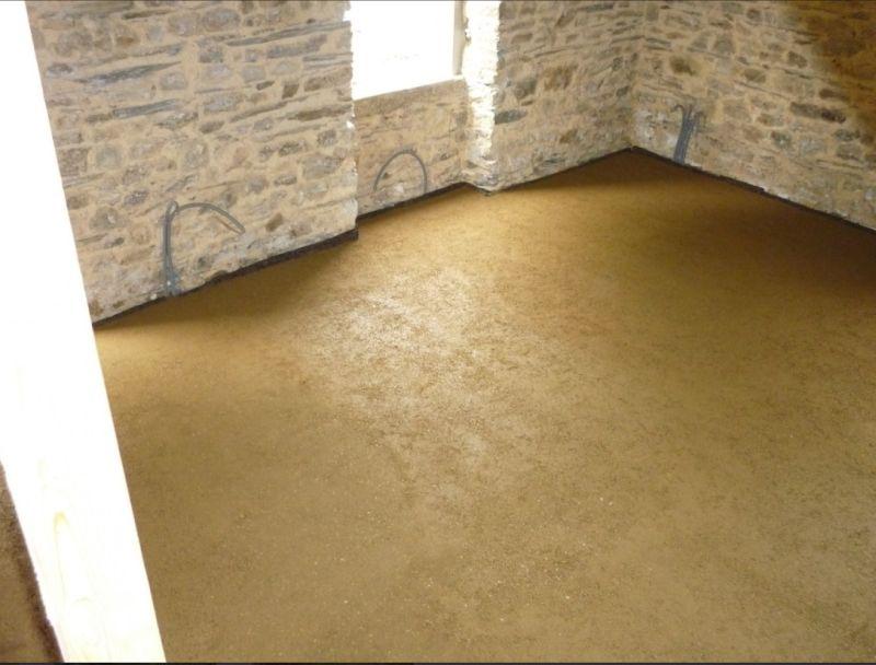 Chape plancher chauffant en béton d'argile (photo argilus)