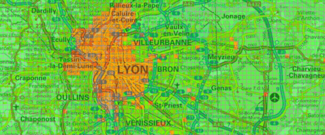 Carte verte orange pour la géothermie à Lyon