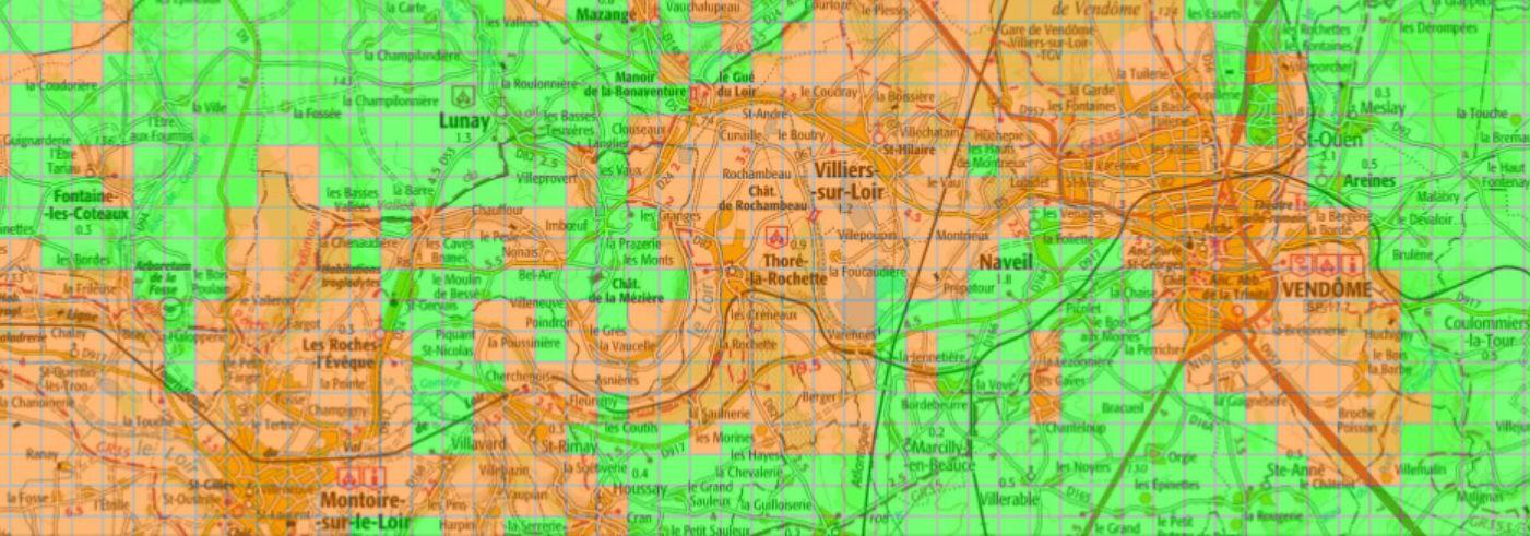 Carte verte orange pour la géothermie à Vendôme