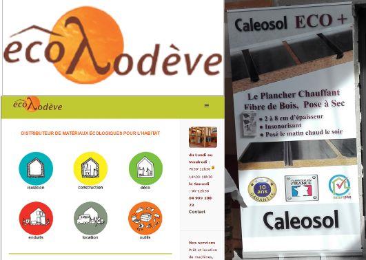 Magasin plancher chauffant Ecolodève à côté de Montpellier