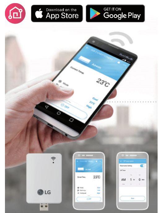 App iphone et Android pour pompe à chaleur LG Therma V R32
