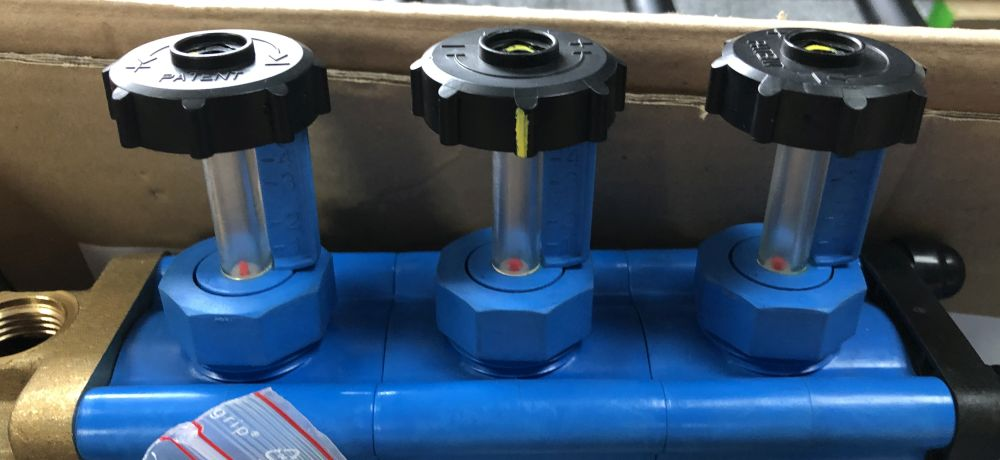 Manomètre pour collecteur de corbeille géothermique