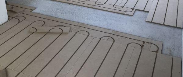 Pose plancher chauffant rafraîchissant Caleosol par CagnElec SARL à Tours