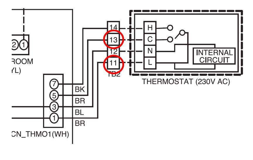 Contact sec pour branchement sonde point de rosée sur pompe à chaleur