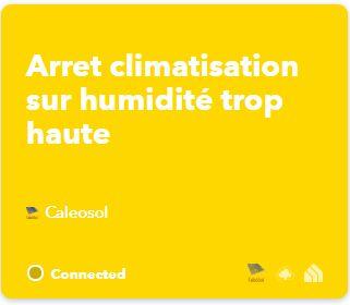 IFTTT Arrêt clim quand hygro trop haute