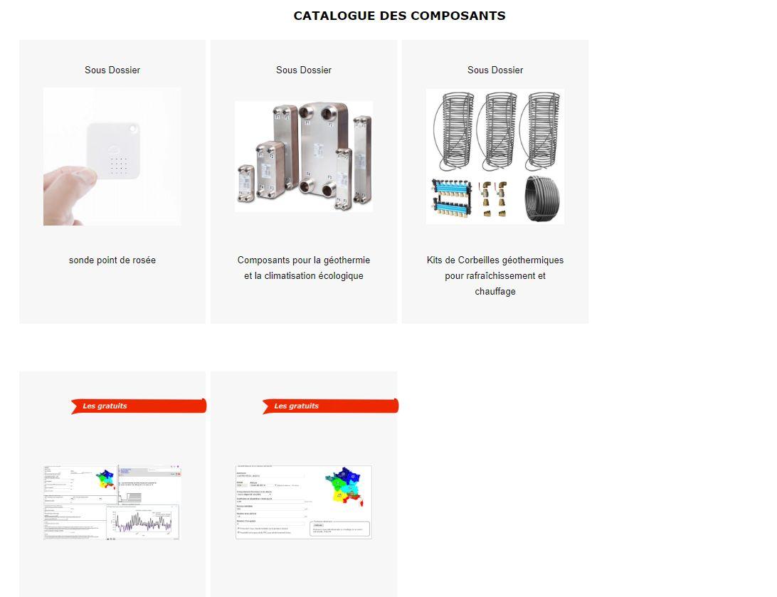 Catalogue corbeille géothermique