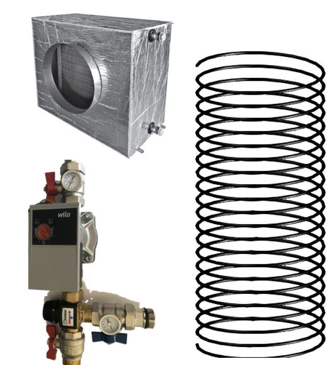 Kit Puits canadien hydraulique 1000 w pour VMC