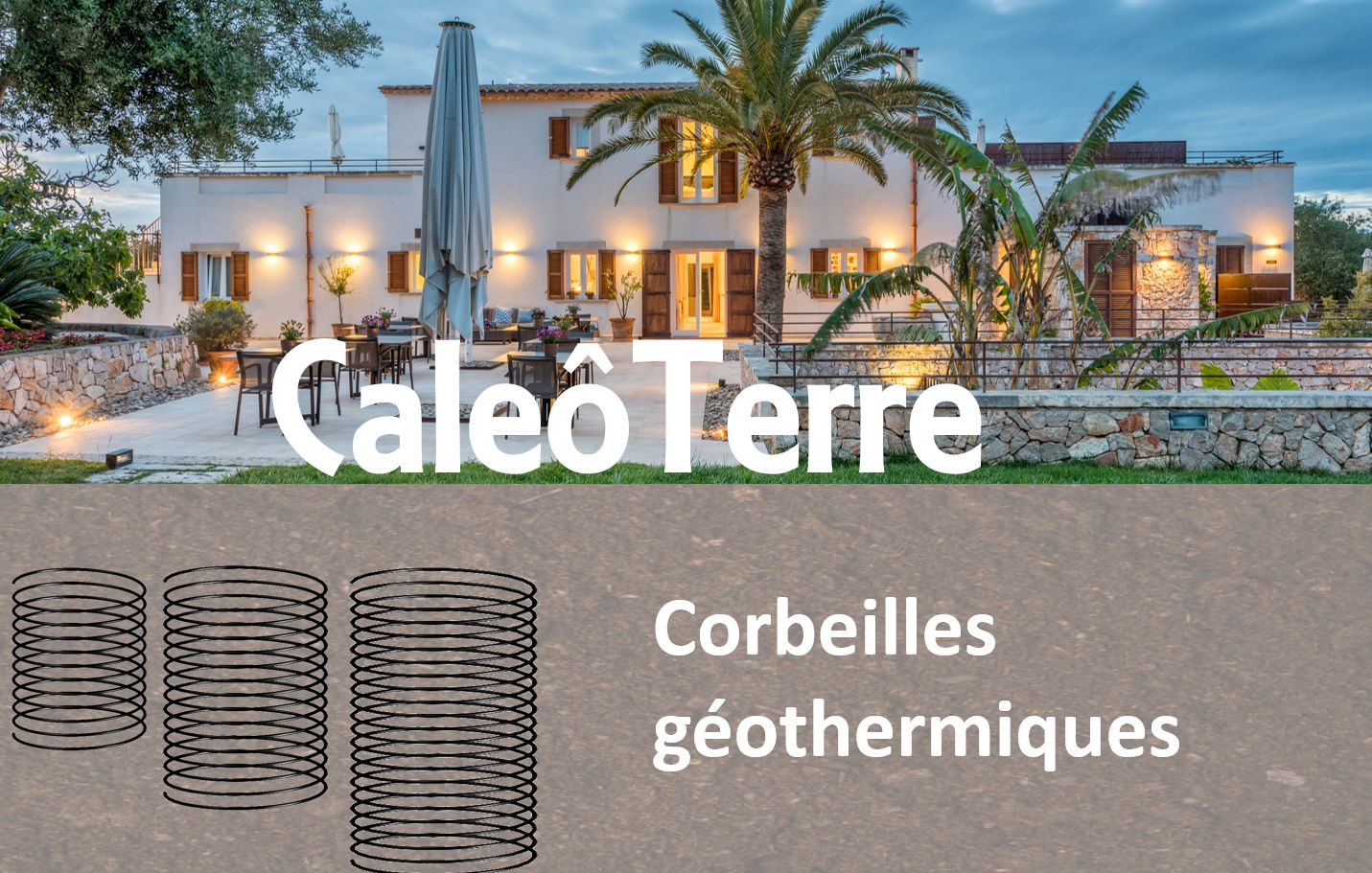 Corbeille géothermique pour climatisation pour combles