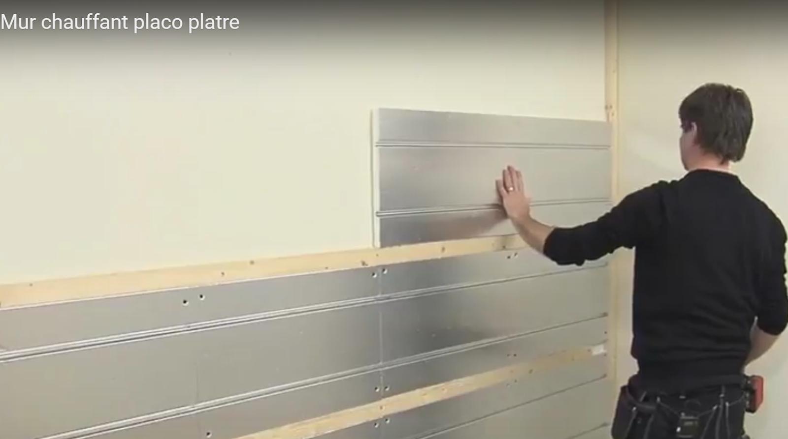 Mur chauffant rafraichissant pour climatiser une chambre d'hôtel