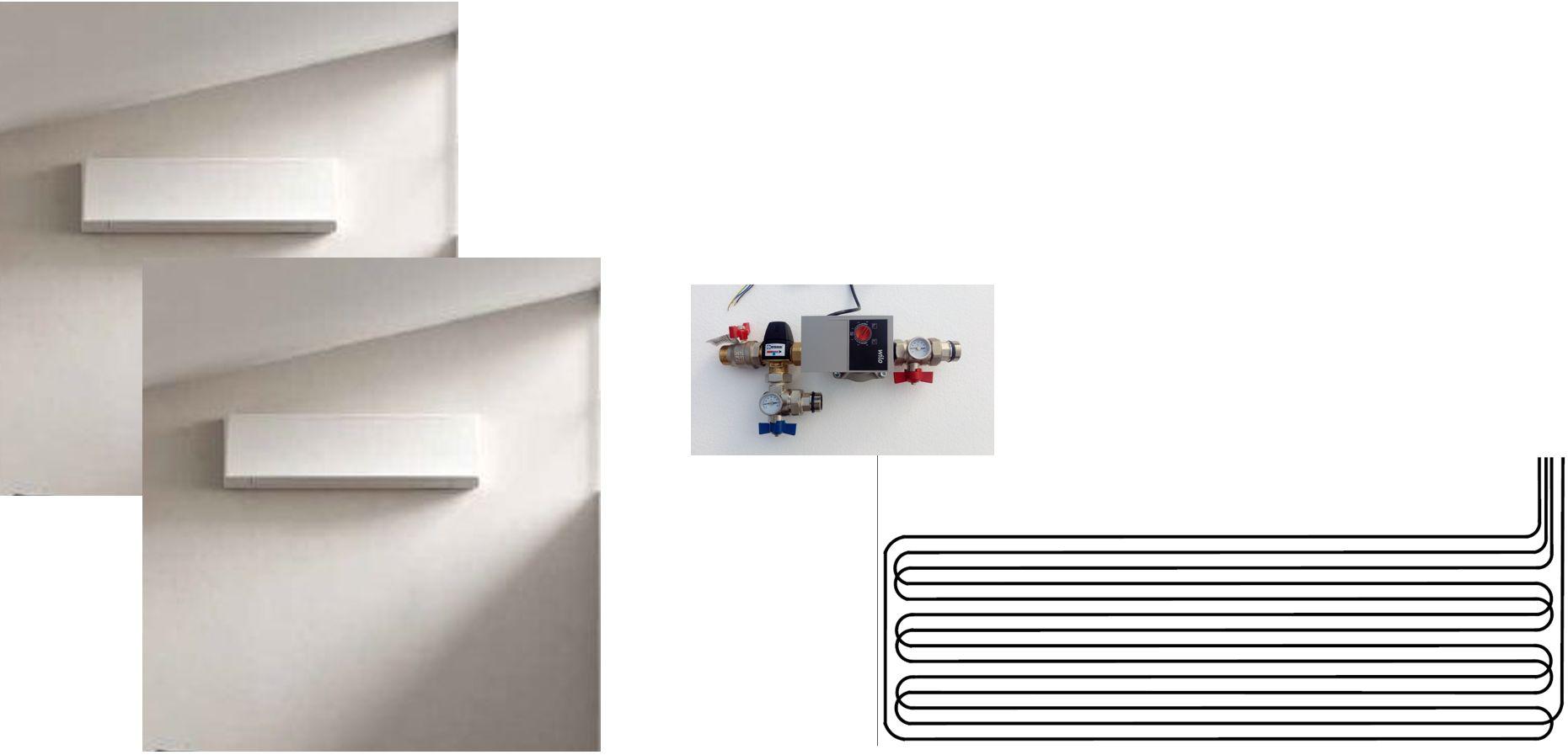 Climatisation pour combles 2 pièces - console murale - géocooling