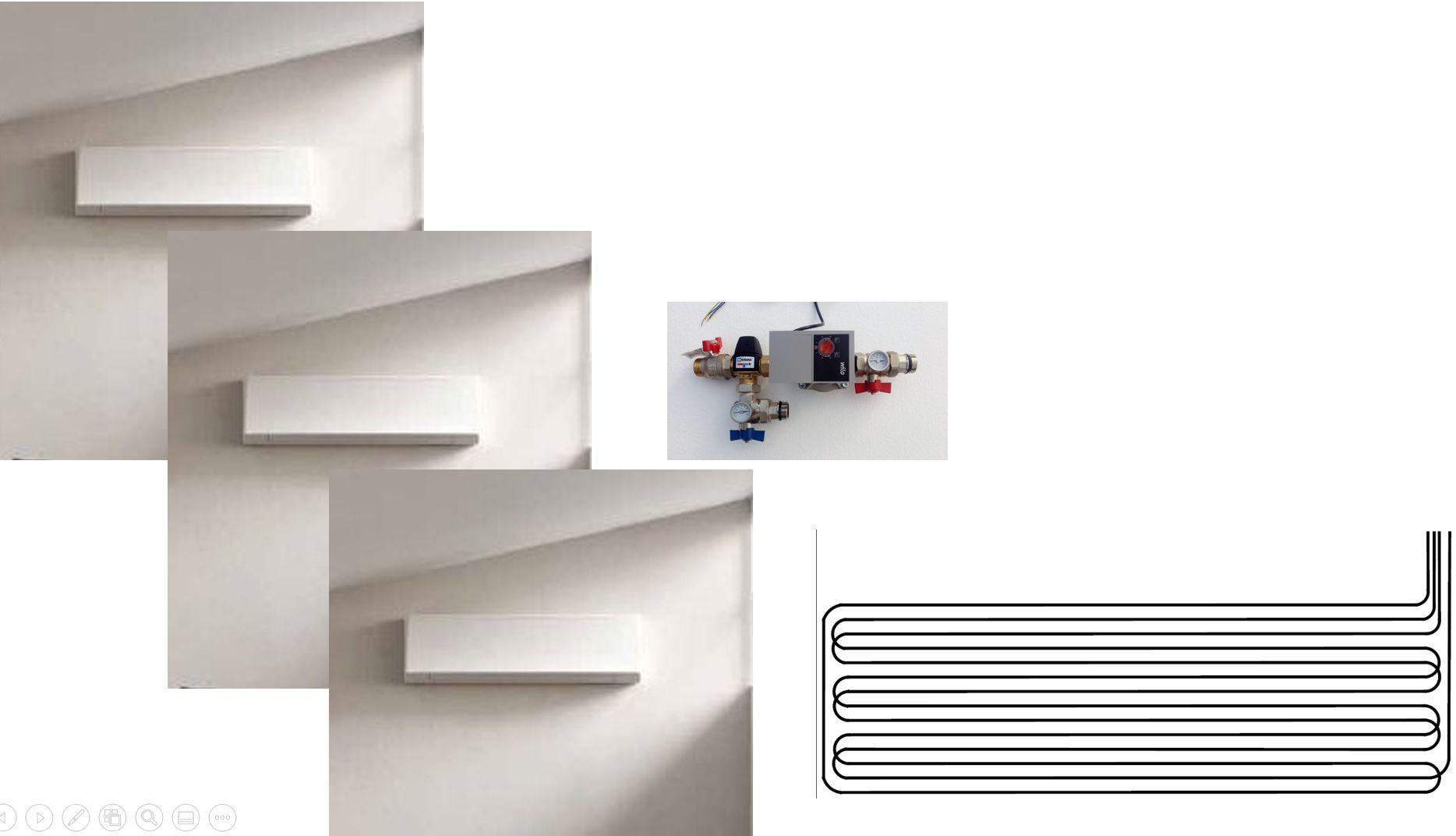 Climatisation pour combles 3 pièces - console murale - géocooling