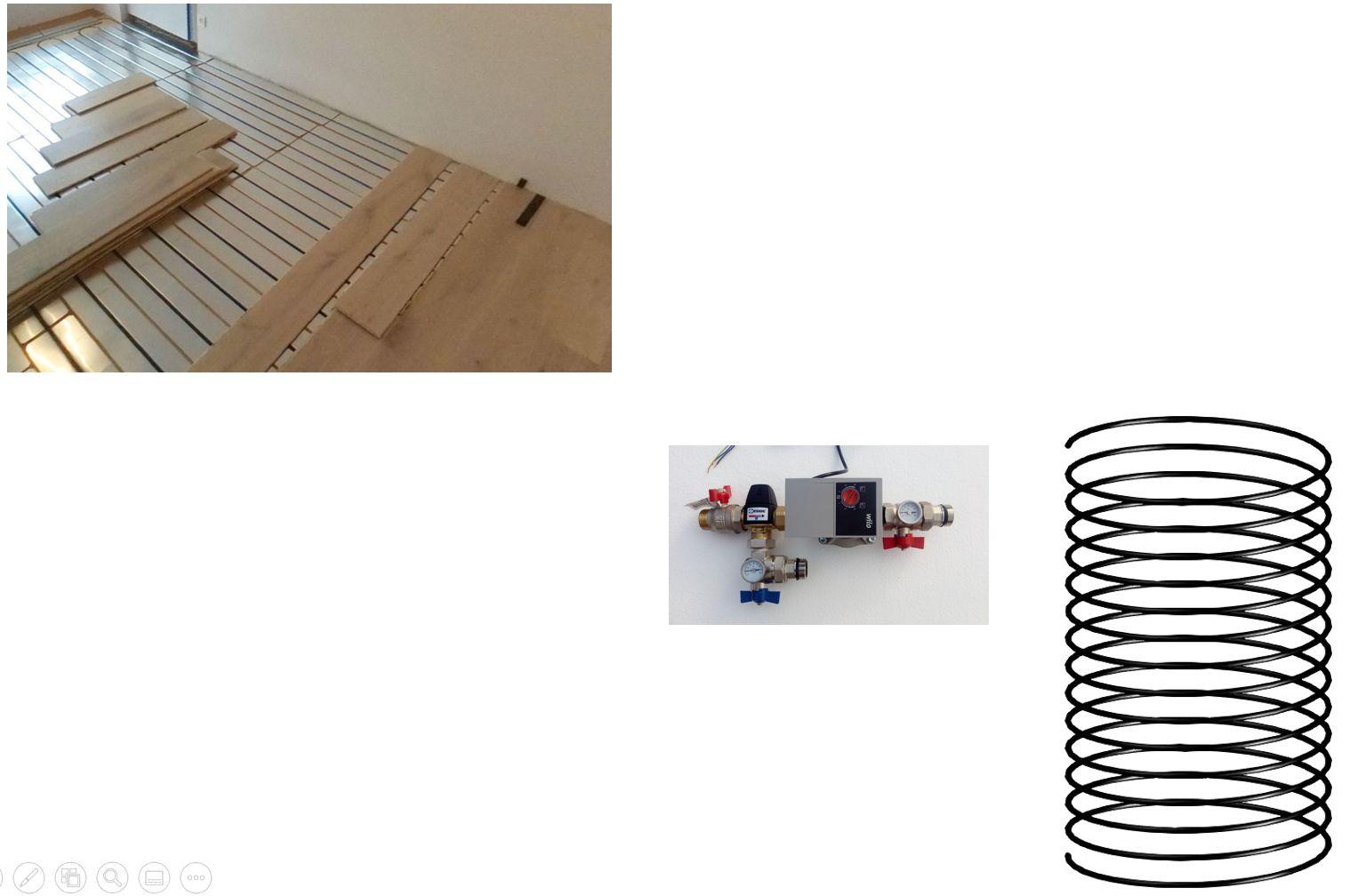 Climatisation pour combles 1 pièce - plancher chauffant rafraîchissant - géocooling