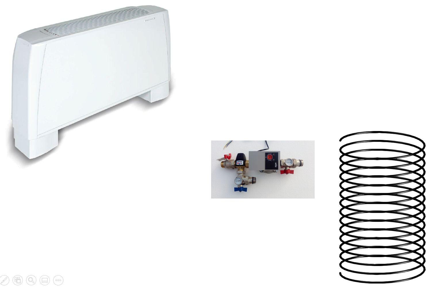 Climatisation pour combles 1 pièce - radiateur réversible - géocooling