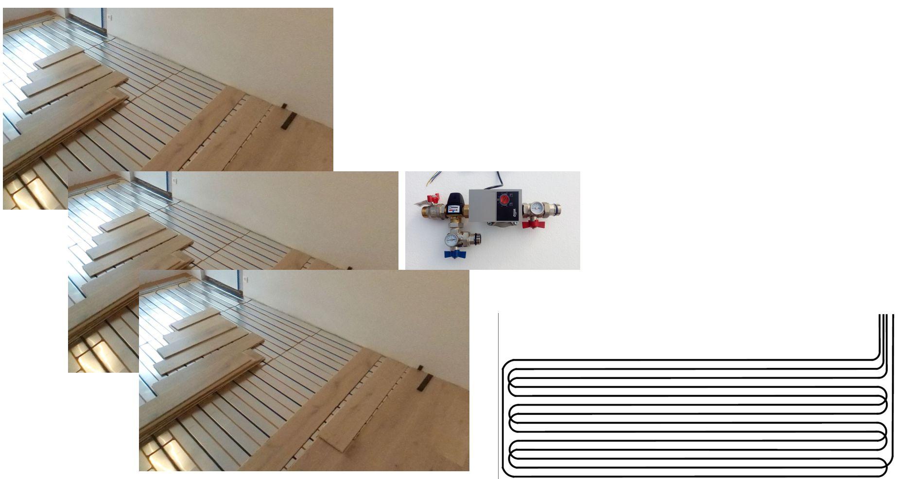 Climatisation pour combles 3 pièces - plancher chauffant rafraîchissant - géocooling