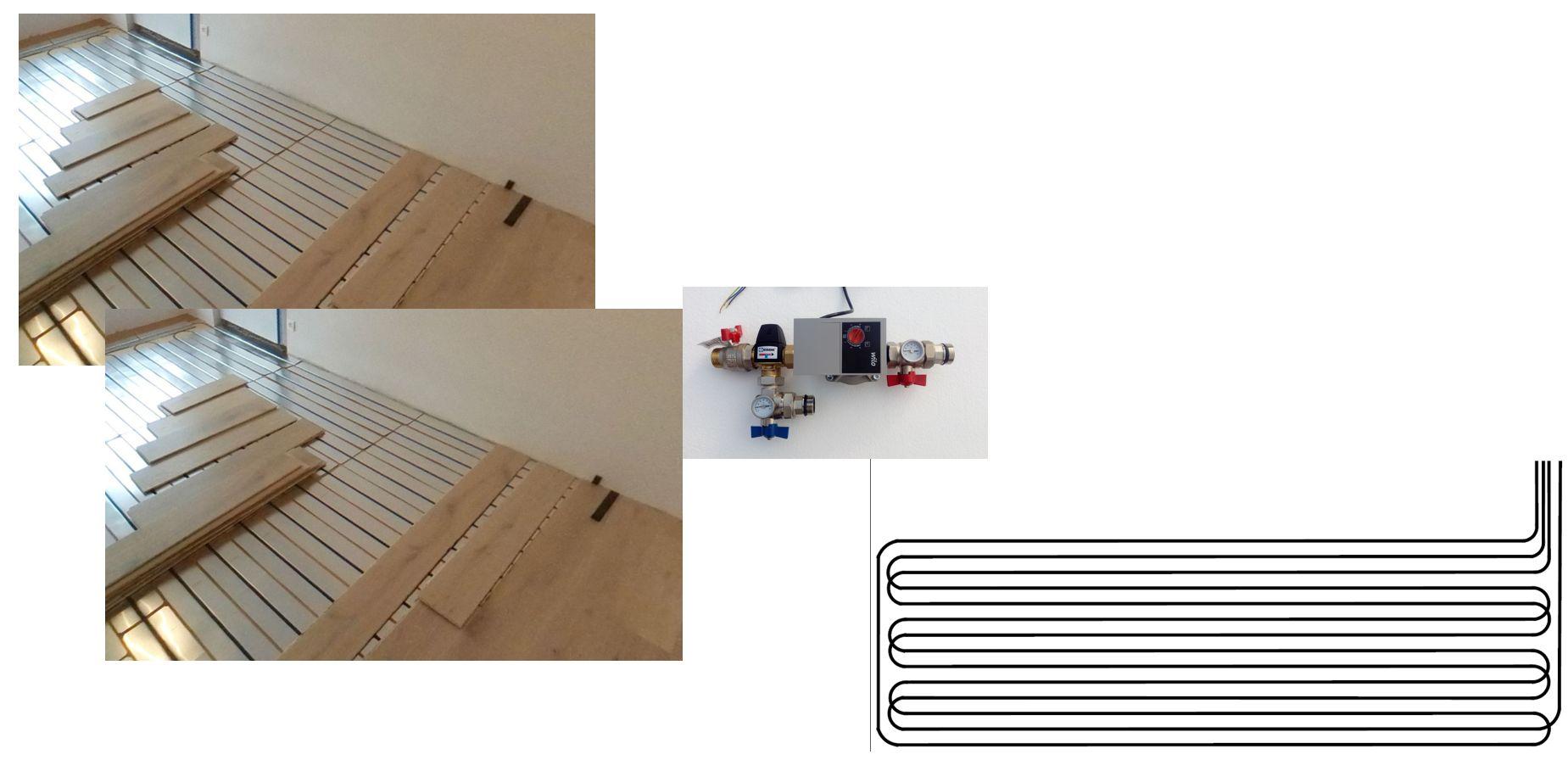 Climatisation pour combles 2 pièces - plancher chauffant rafraîchissant - géocooling