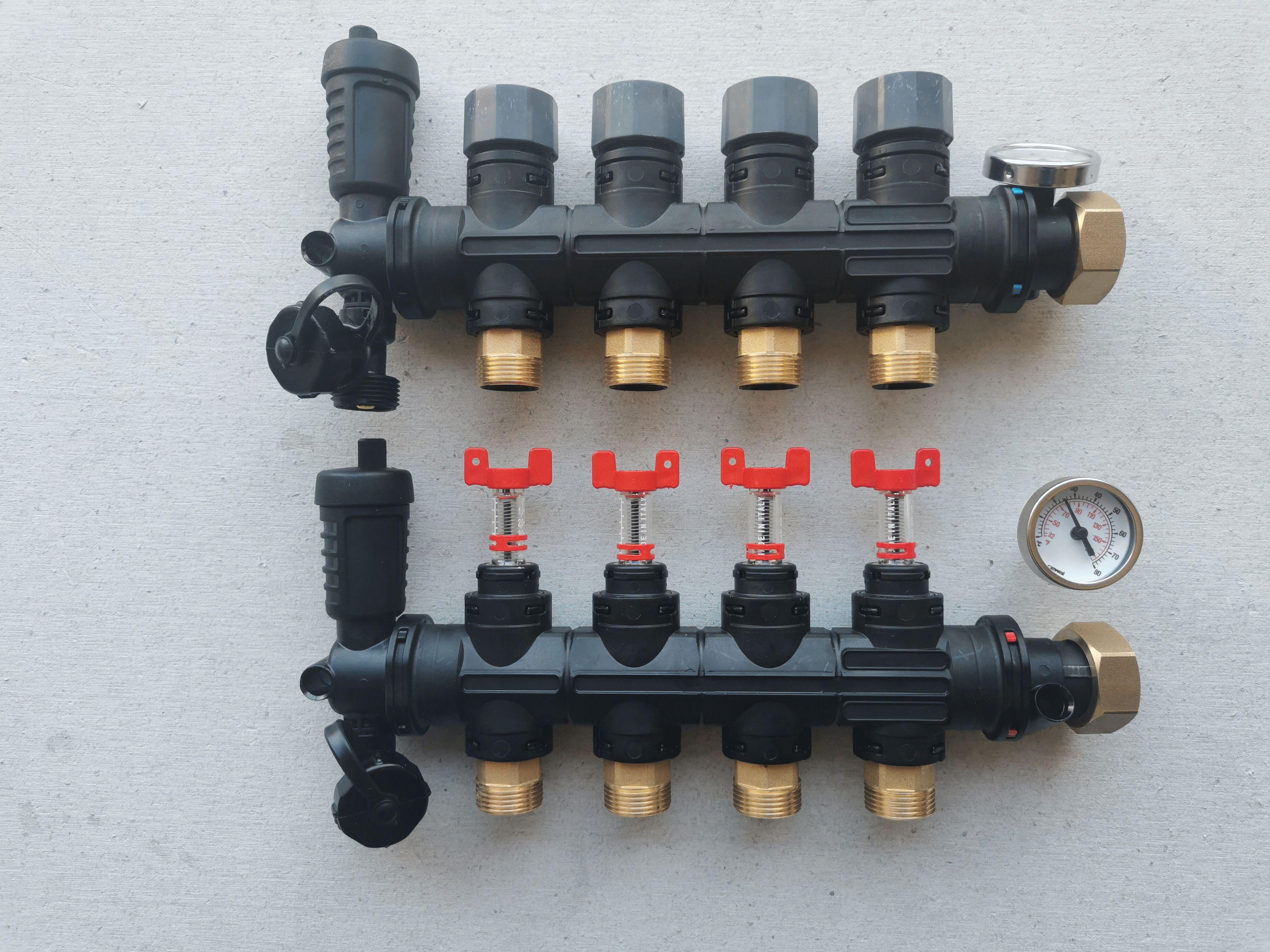 Collecteur Nourrice 4 voies  pour puits canadien hydraulique